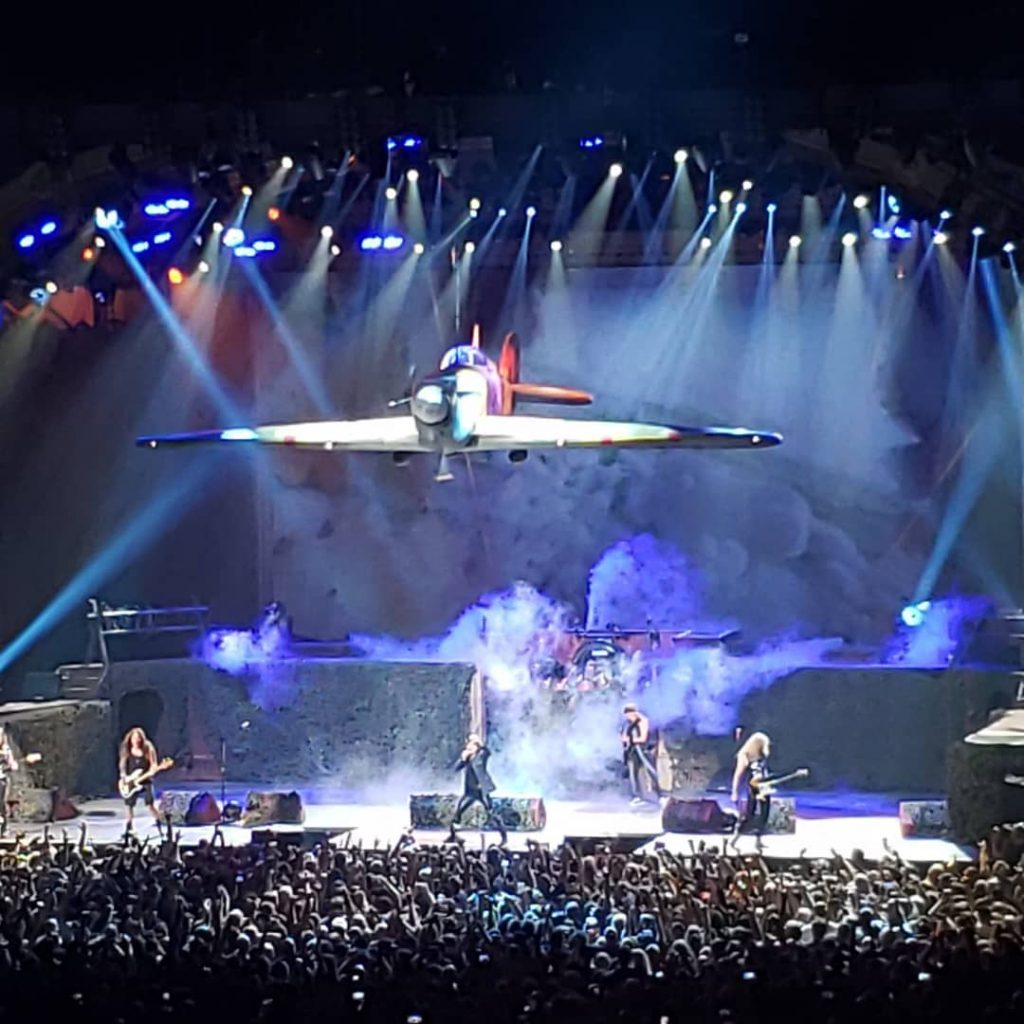 Iron Maiden performing Aces High